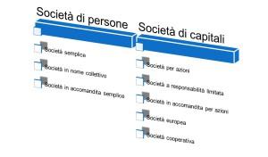 I tipi di società